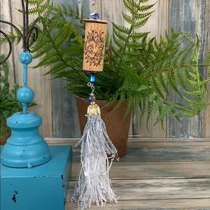 ✨🌸Wine cork Christmas tree ornament blue silver